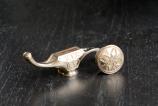 BronzeElemente Falkner Messer mit Arabische Ornamentik von Nadine Kierok; Messermacher: Richard Kappeller